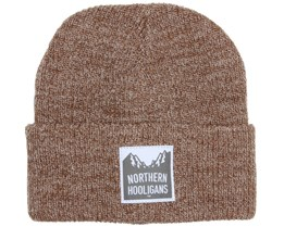Summit Heather Brown Beanie - Northern Hooligans