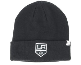 Los Angeles Kings Raised Knit Black Cuff - 47 Brand