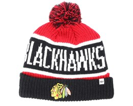 Chicago Blackhawks Breakaway Knit Red Pom - 47 Brand