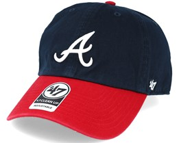 Atlanta Braves 2 Tone Clean Up Navy/red Adjustable - 47 Brand