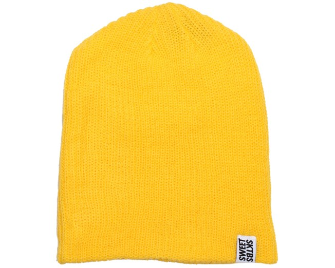 Ribbed Yellow Beanie - Sweet