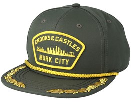 Men´s Woven Wavy Armada Rifle Green Snapback - Crooks & Castles