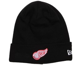 Detroit Red Wings Basic Cuff Black Knit - New Era