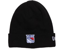 NY Rangers Basic Cuff Black Knit - New Era