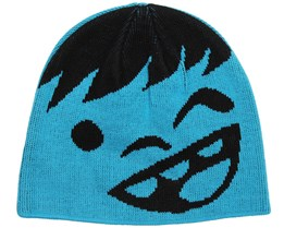 Kids Happy Black/Cyan Beanie - Neff
