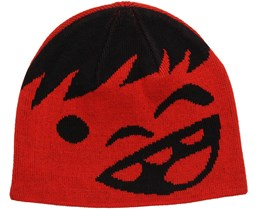 Kids Happy Black/Red Beanie - Neff