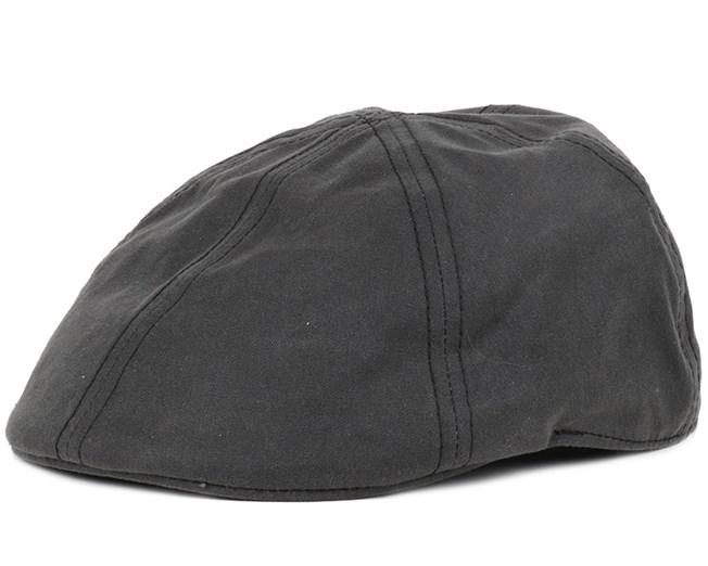 Texas Waxed Cotton Black Flap Cap - Stetson