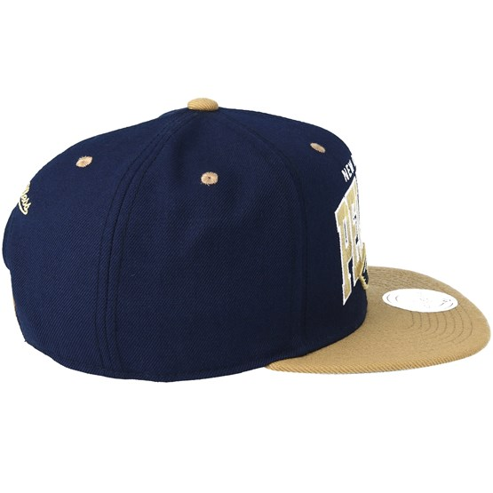 e9cf9a618f5 ... logo adjustable snapback hat fe2c5 9460d  sweden new orleans pelicans  team arch navy sand snapback mitchell ness caps hatstore 85440 1ebeb