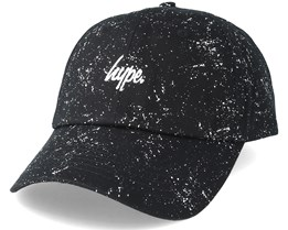 Script Speckle Dad Hat Black/White Adjustable - Hype