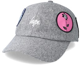 Wooly Patches dad hat Grey Adjustable - Hype
