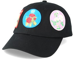Patches Dad Hat Black Adjustable - Hype