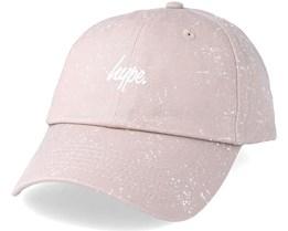 Script Speckle Dad Hat Sand/White Adjustable - Hype