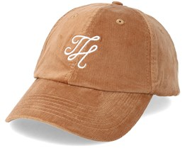 Corduroy Dad Hat Tan/White Adjustable - Hype