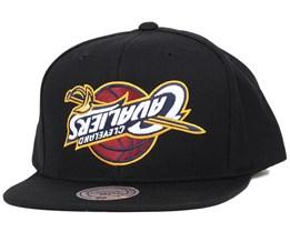 Cleveland Cavaliers Upside Down Logo Snapback - Mitchell & Ness