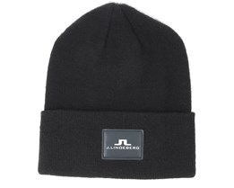 Stinny Wool Blend Black Beanie - J.Lindeberg