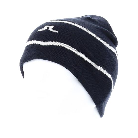 2e5855b08f1 Chevron JL Navy Beanie - J.Lindeberg - bonnet