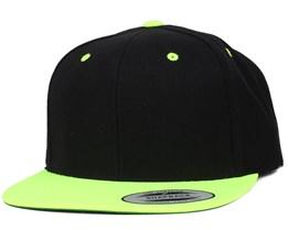 Black/Neon Lime Snapback - Yupoong