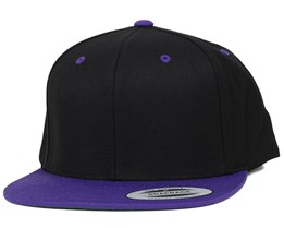 Black/Purple Snapback - Yupoong