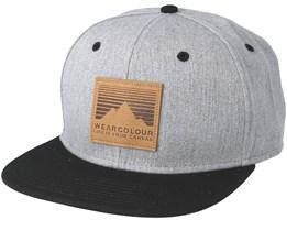 Badge Grey Melange Snapback - Wear Colour