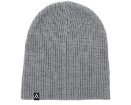 Rib Grey Melange Beanie - Wear Colour