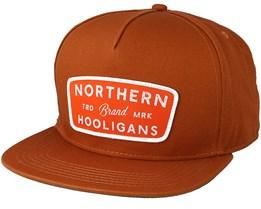 Badge Brown Snapback - Northern Hooligans