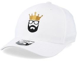 Logo Crown White Flexfit - Bearded Man
