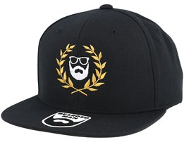 Caesar Logo Black Snapback - Bearded Man