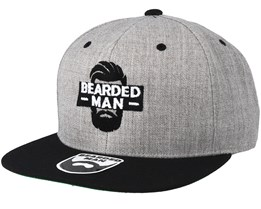 Facebox Grey/Black Snapback - Bearded Man