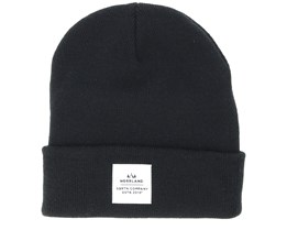 Wood Patch Black Beanie - Sqrtn