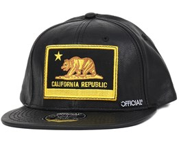 Cali Patch Leather Snapback - Official