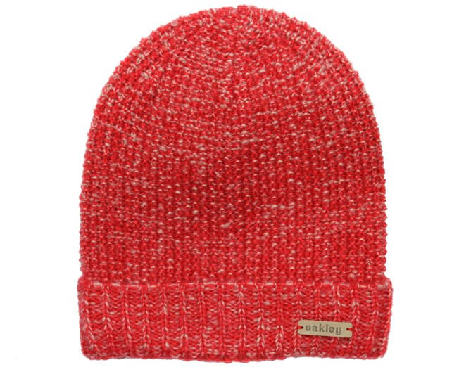 Woman's Lima Red Line Beanie - Oakley