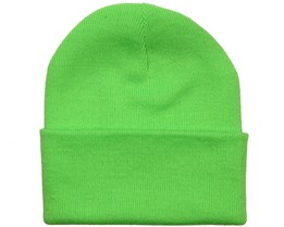 Fluorescent Green Beanie - Beanie Basic