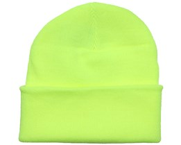 Fluorescent Yellow Beanie - Beanie Basic