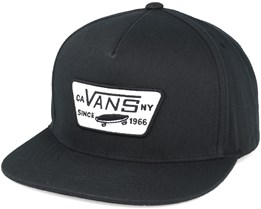 Full Patch True Black Snapback - Vans