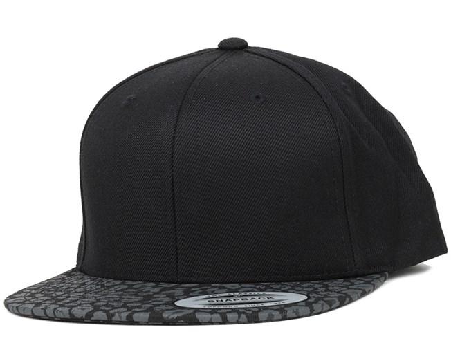 Black/Leopard Snapback - Yupoong