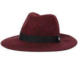 Harmon Heather Burgundy Trilby - Coal