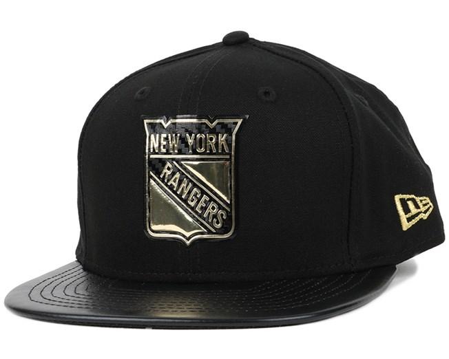 NY Rangers Fabric Mix Black/Gold 9Fifty Snapback - New Era