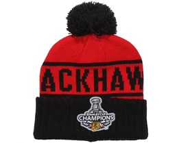Chicago Blackhawks Championship NHL Beanie - Mitchell & Ness