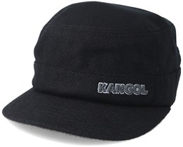 Textured Wool Army Cap Black Flexfit - Kangol