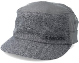 Textured Wool Army Cap Flanell Grey Flexfit - Kangol