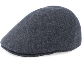 Seamless Wool Flanell Grey Flat Cap - Kangol