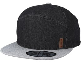 Fashion Denim Panel Trucker Black/Grey Snapback - Kangol