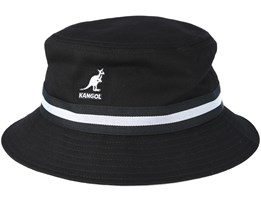 Stripe Lahinch Black Bucket - Kangol