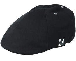 Wool 6-Panel Black Flatcap - Kangol