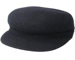 Wool Enfield Black Flat Cap - Kangol