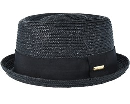 Wheat Braid Black Pork Pie - Kangol