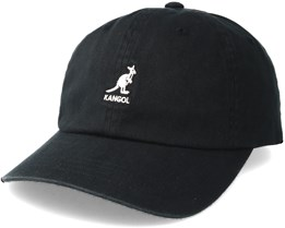 Washed Baseball Black Adjustable - Kangol