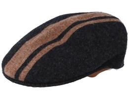 Vode Stripe 504 Black/Wood Flatcap - Kangol