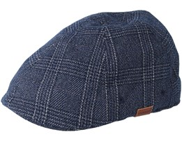 Wool 504 Dark Blue Flatcap - Kangol
