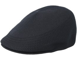 Tropic 507 Ventair Black Flat Cap - Kangol